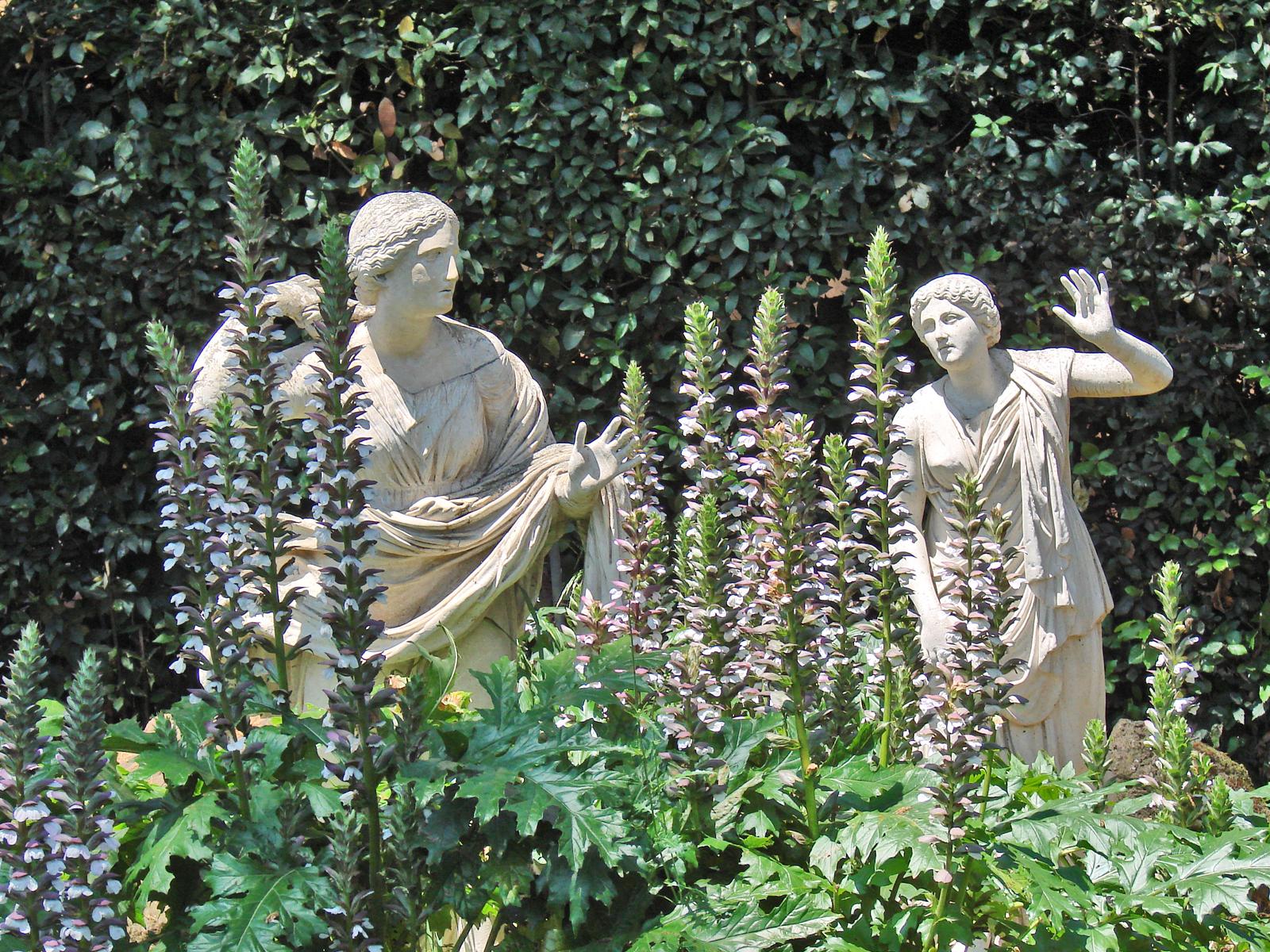 File d tail du carr des niobides de la villa m dicis for Jardin villa medicis rome