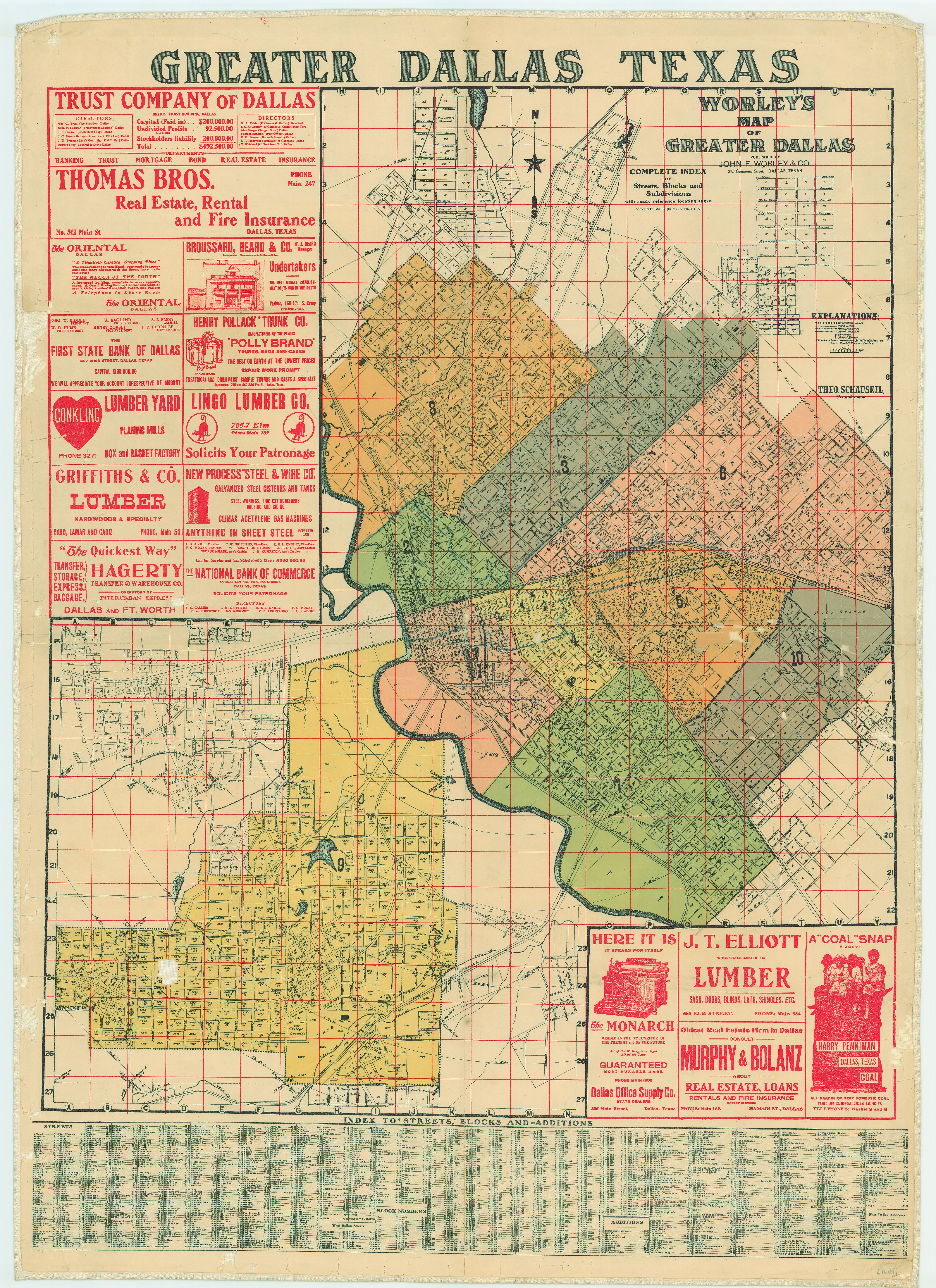 Complete Map Of Texas.File Dallas Texas Map 1905 Jpg Wikimedia Commons