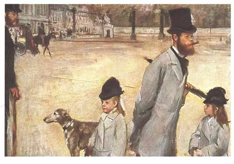 Image result for Place de la Concorde by Edgar Degas.
