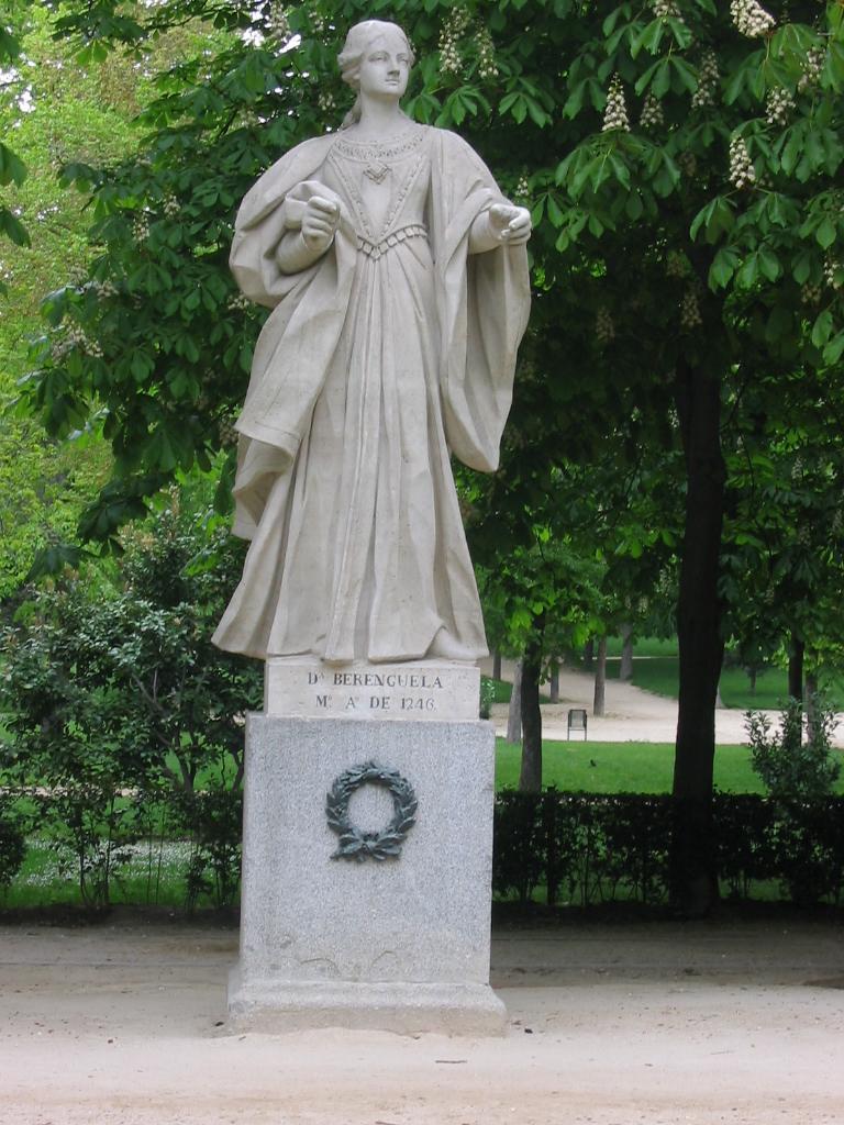 La Reina Berenguela de Castilla en el Retiro de Madrid