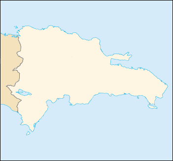 Location map Dominican Republic