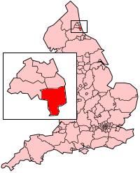 Sunderland within Tyne and Wear and England