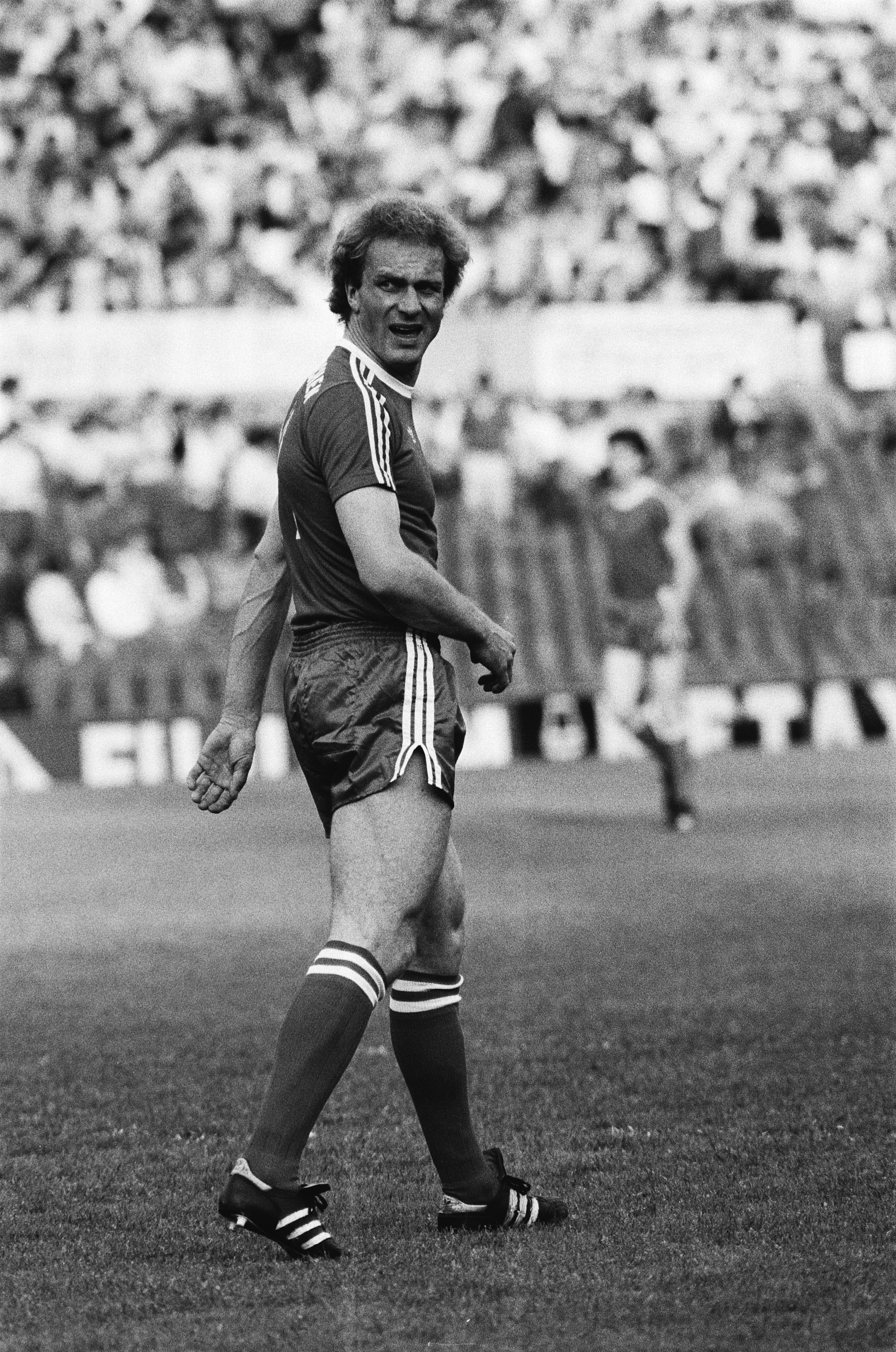 Autogramm Hansi Müller Fußball Vizeweltmeister 1982 VfB Stuttgart Inter Mailand#