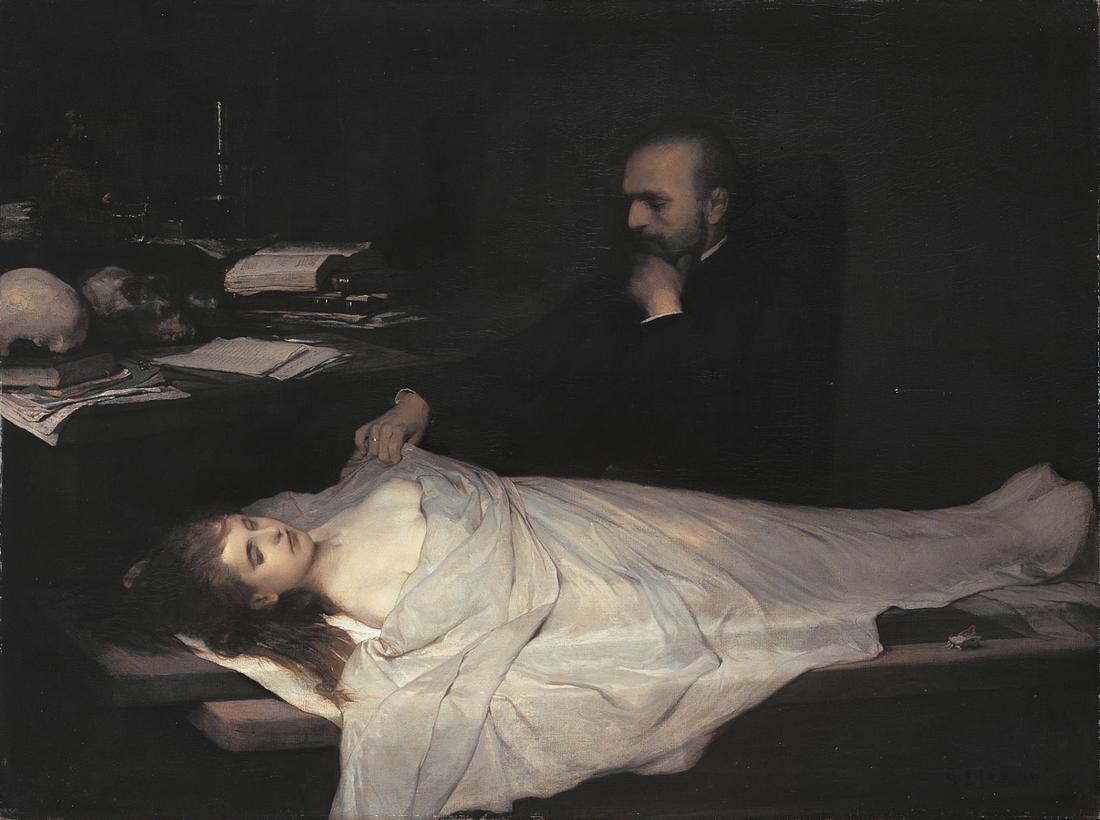 Gabriel von Max: Der Anatom, 1869