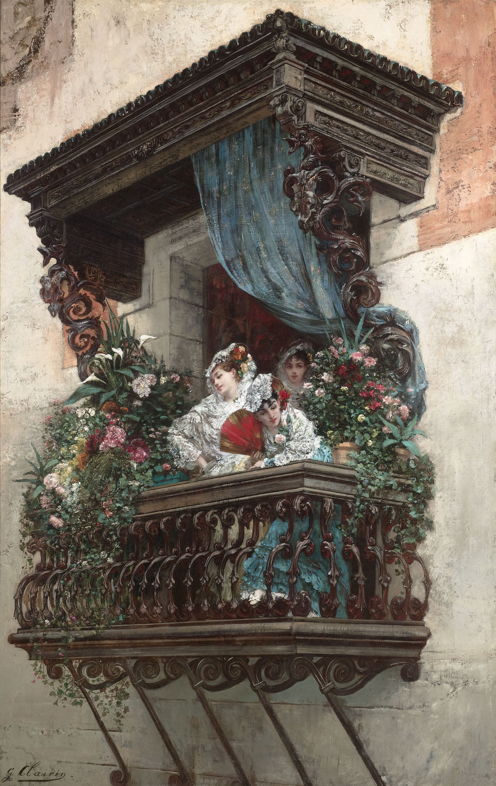 File georges jules victor clairin spanish woman on for Balcony history
