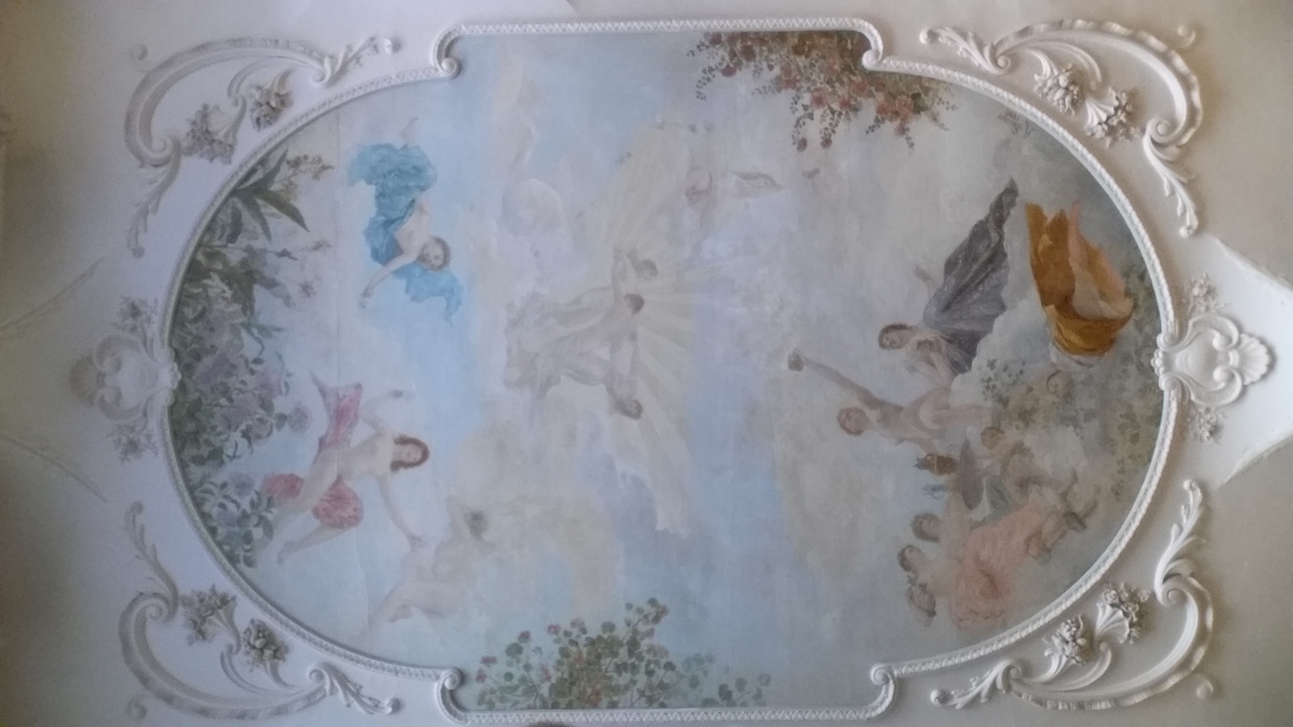 Fichier:Grand Café De Moulins Salle Du Rez De Chaussée Peinture Du Plafond