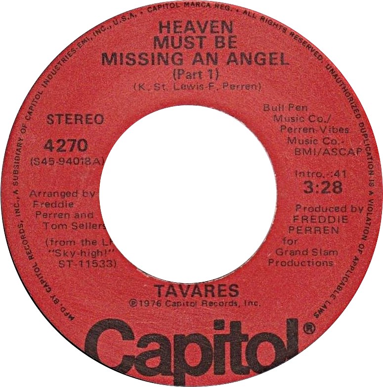 File:Heaven Must Be Missing an Angel (Part 1) by Tavares US