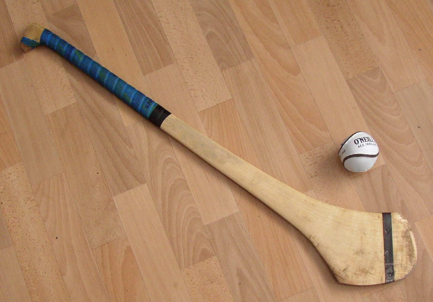 A hurley and hurling ball in Dublin, Ireland