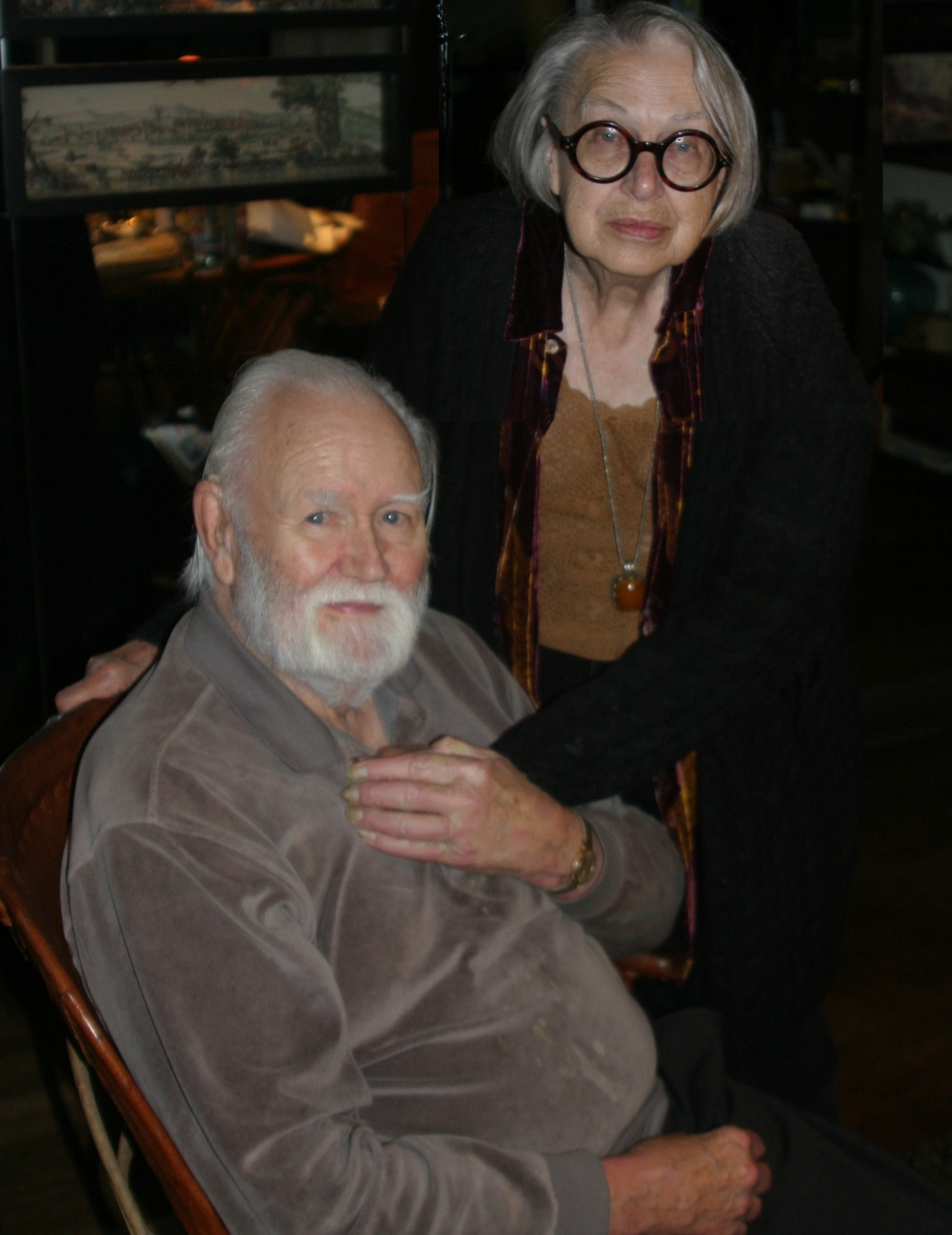 Baldon with her husband [[Ib Melchior]] in 2007