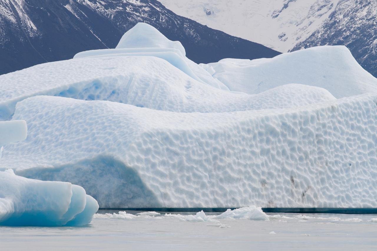 Icebergs en el lago Argentino, El Calafate.