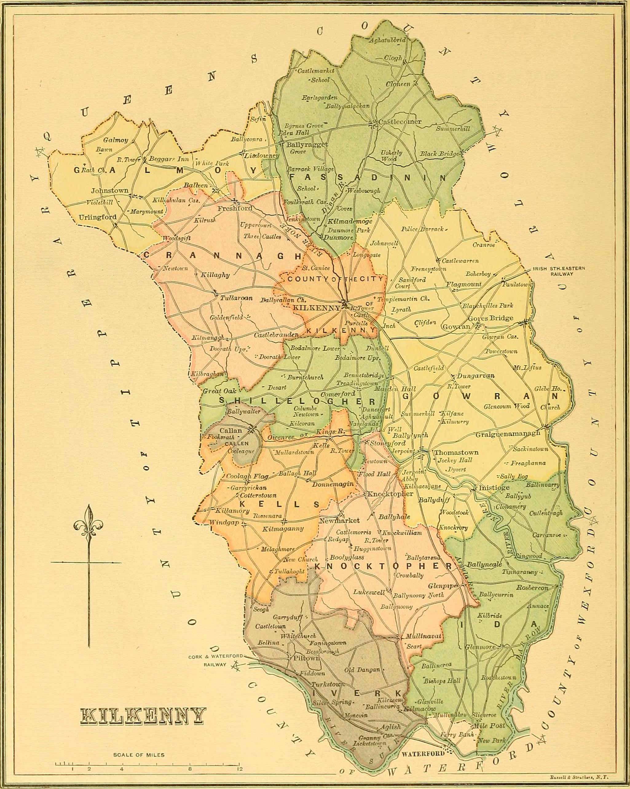 Map Of Ireland 2050.File Ireland 1885 Map Of County Kilkenny Jpg Wikimedia Commons