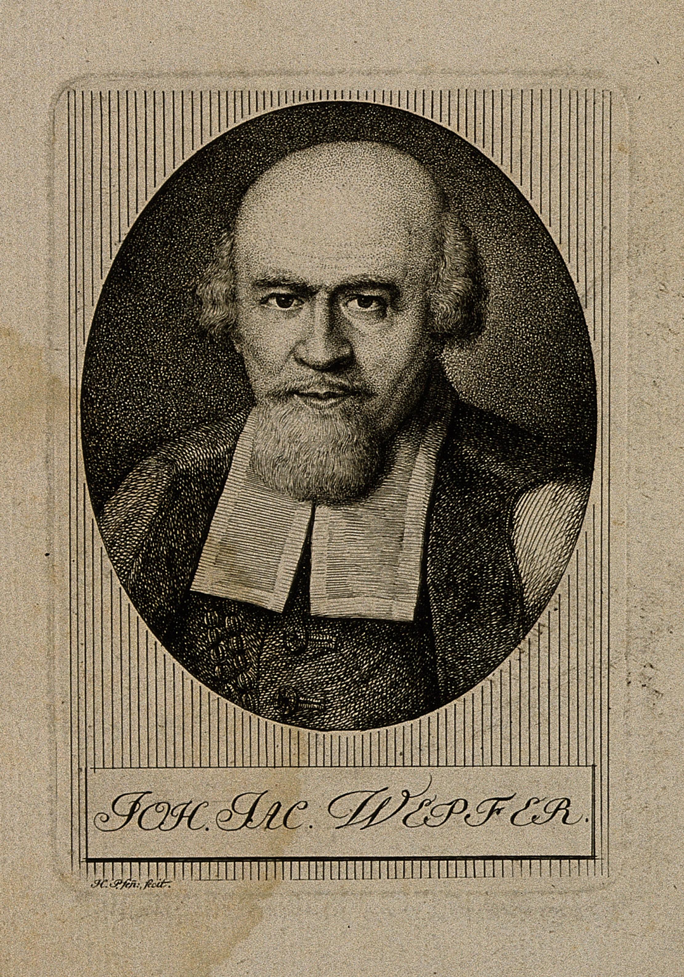 Engraving of Johann Jakob Wepfer