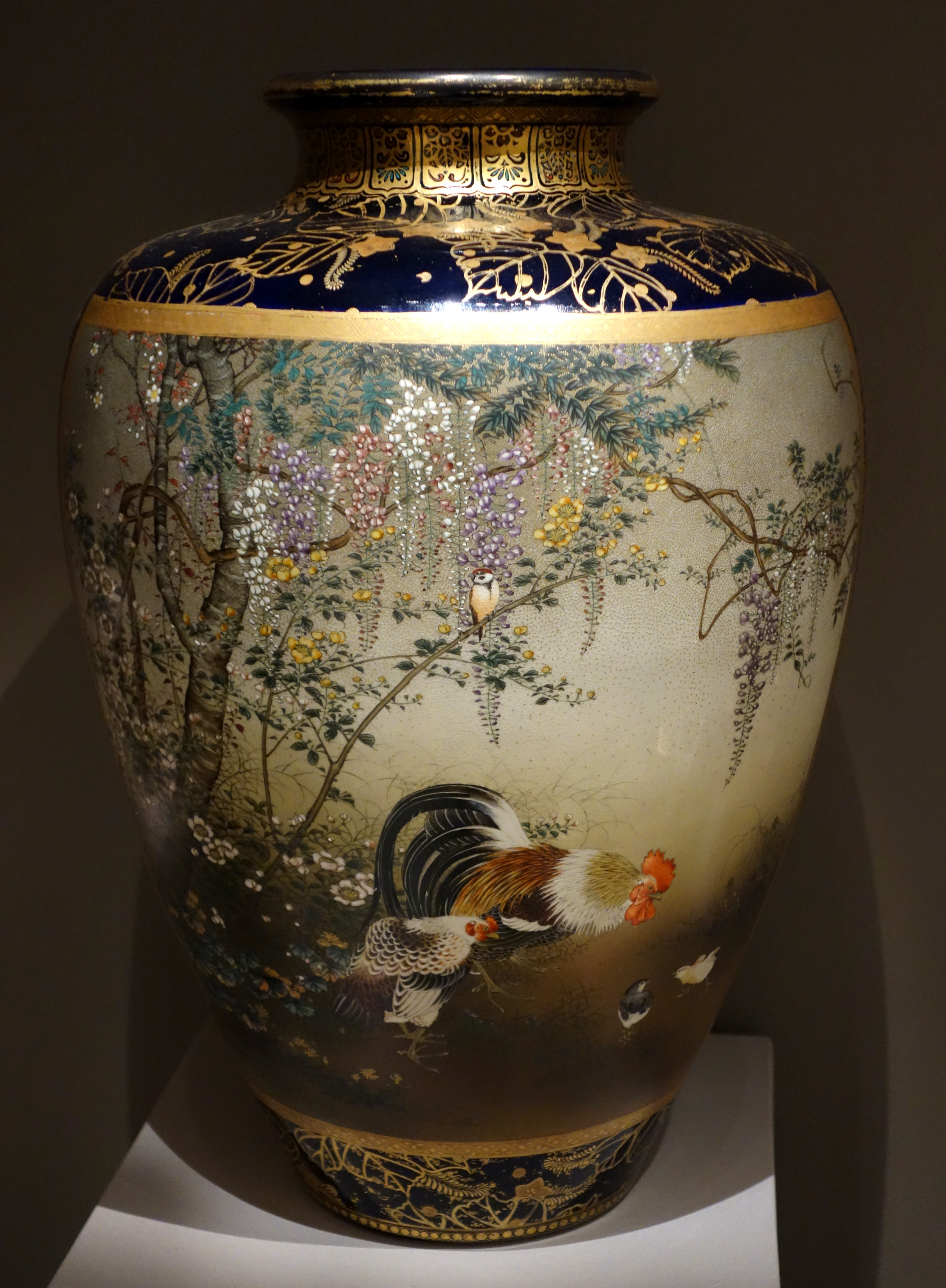 File Large Vase Japan Kyoto Kinkozan Workshop 1870s