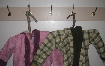 Lashed Coat Hanger