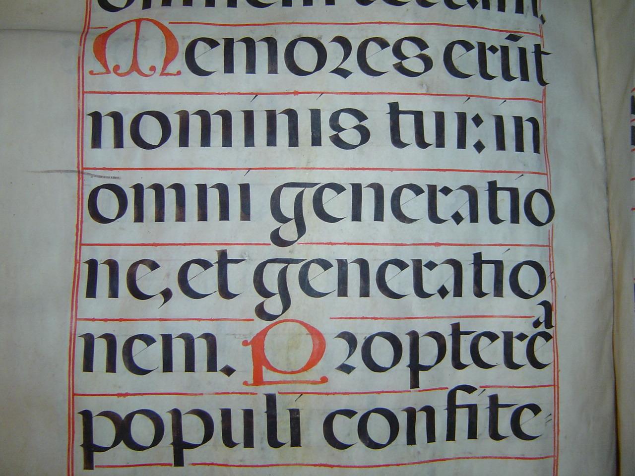gotica abecedario:
