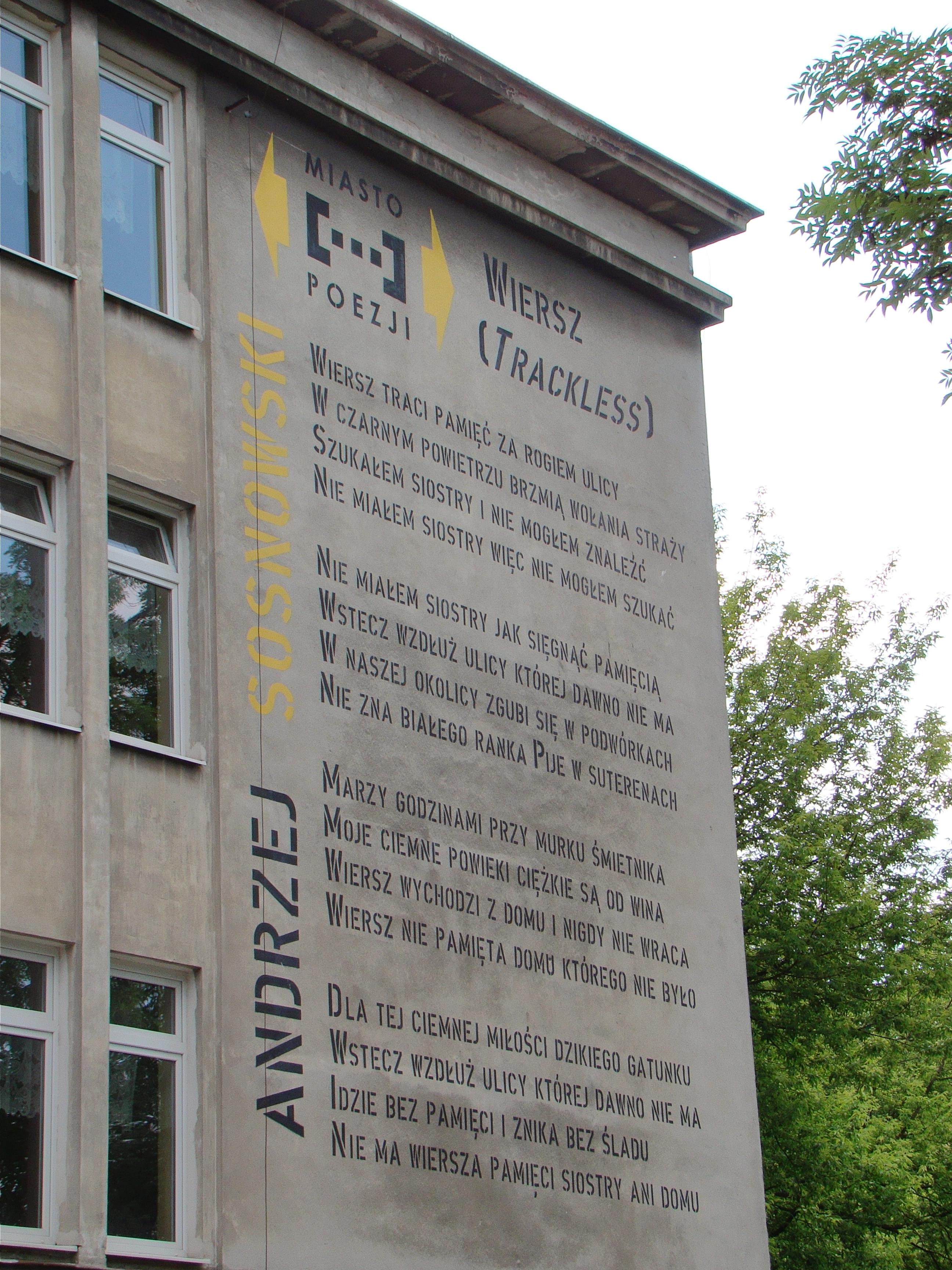 Filelublin Ul Lipowa 25 Gimnazjum Nr 9 Mural Wiersz