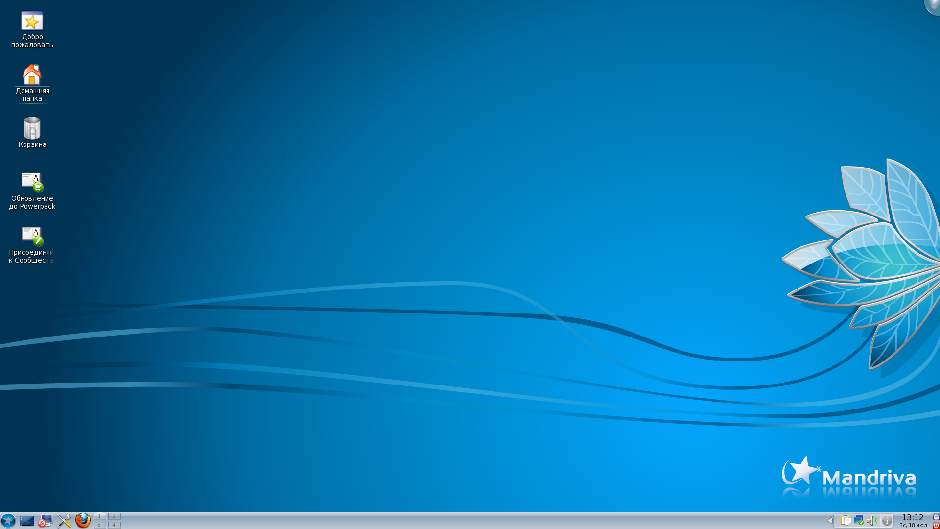 Mandriva Linux 2010.1 One с фирменным оформлением Ia Ora