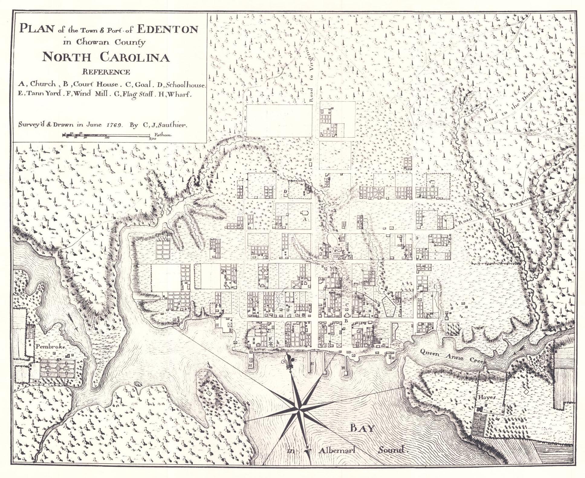 File:Map of Edenton Chowan County North Carolina 1769.jpg ...