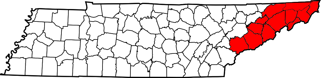 File Map Of Tennessee Highlighting Former State Of Franklin Png