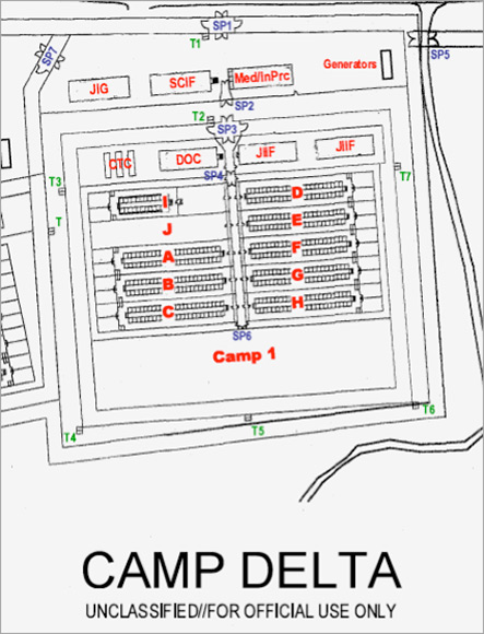 Standard Operating Procedure Flow Chart Template: Map of camp delta from Camp Delta Standard Operating ,Chart