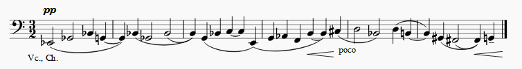 Martinu Symphony No. 1, 3dr movement, theme