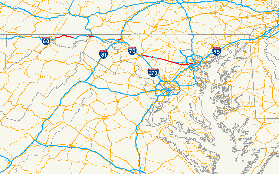 Maryland Route Wikipedia - Maryland road map