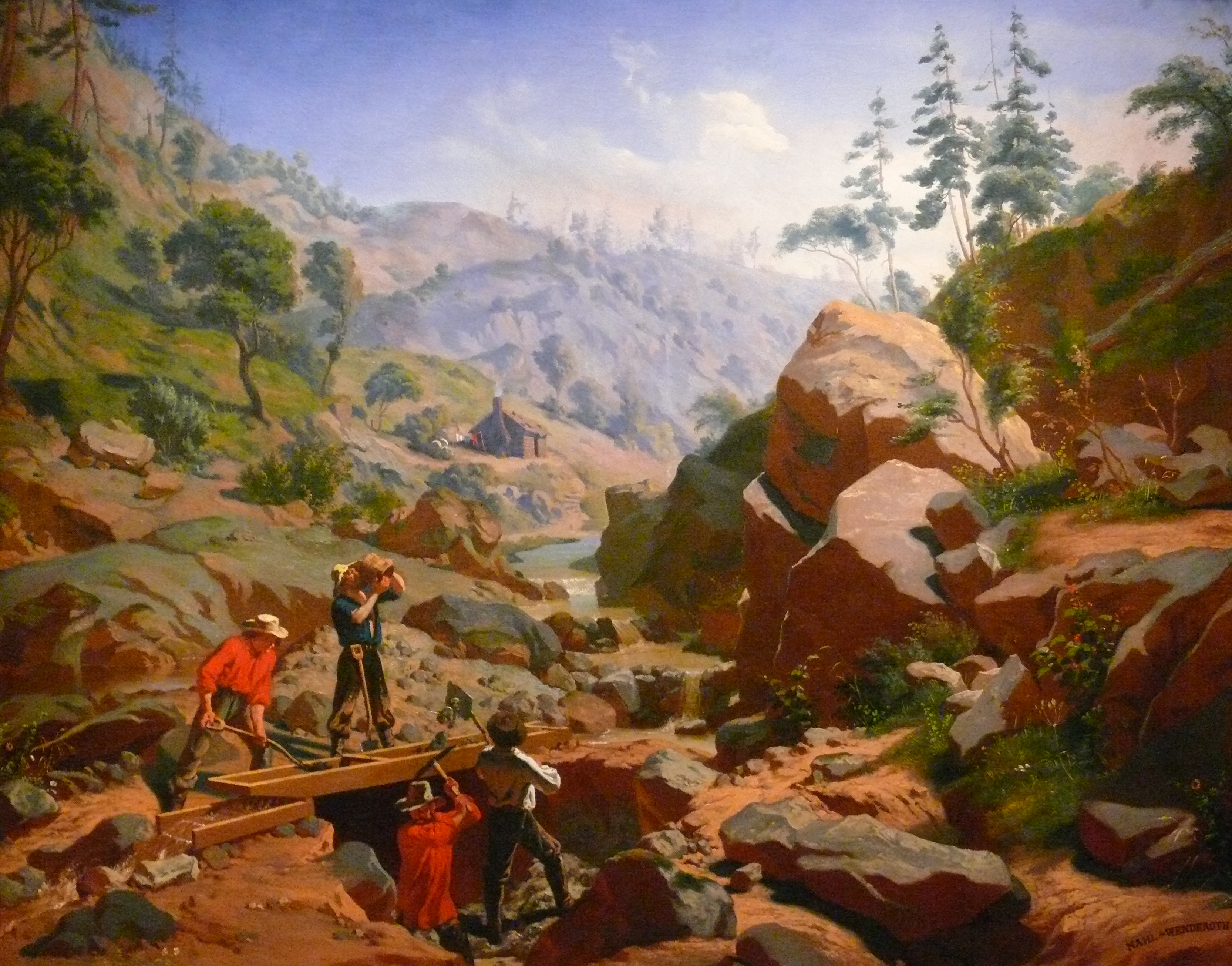 Miners in the Sierras, 1851