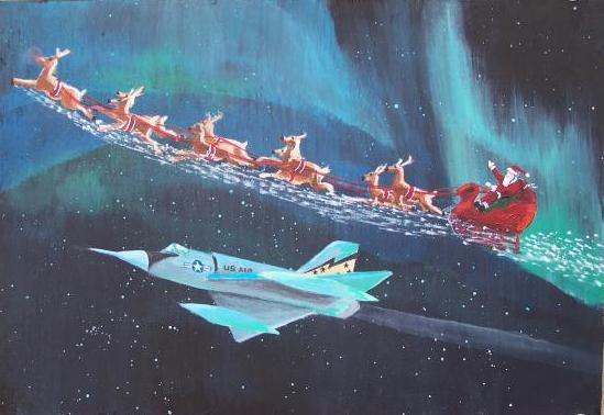 NTS Santa Jet Fighter Escort
