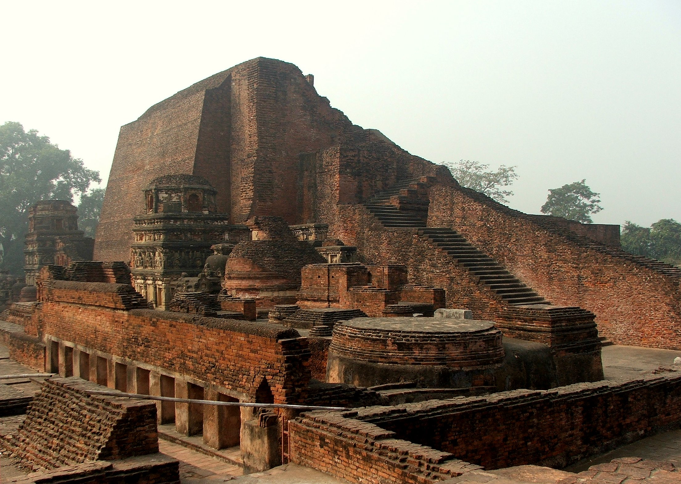 Nalanda is considered one of the first great universities in recorded history. It was the center of Buddhist learning and research in the world from 450 to 1193 CE.