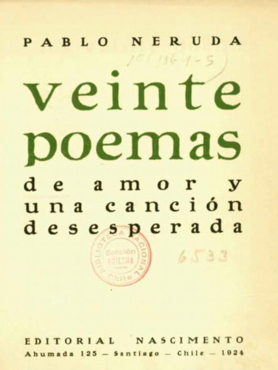 Veinte Poemas De Amor Y Una Cancion Desesperada Wikipedia La