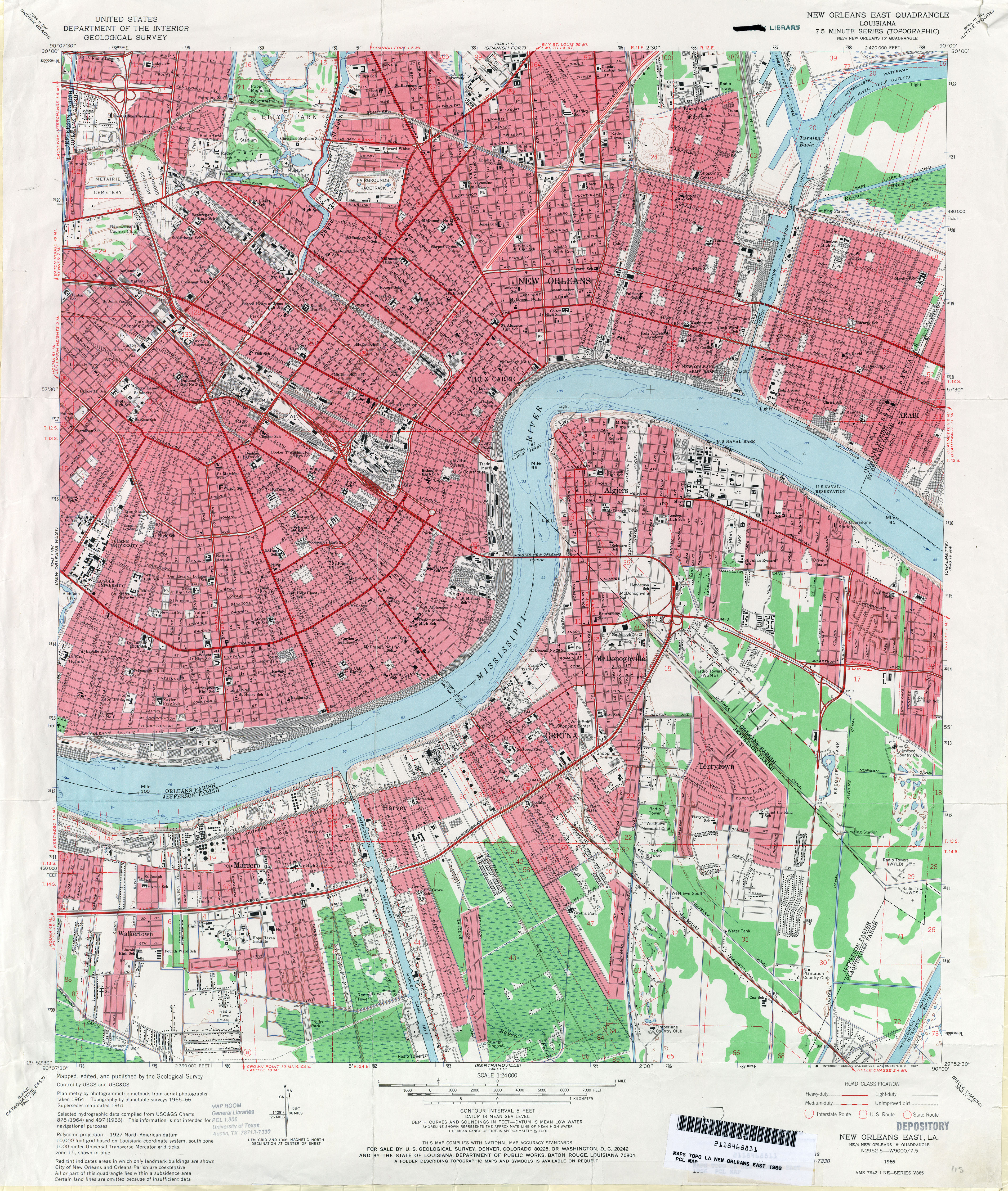 File New Orleans Section And West Bank 1966 Map Jpg