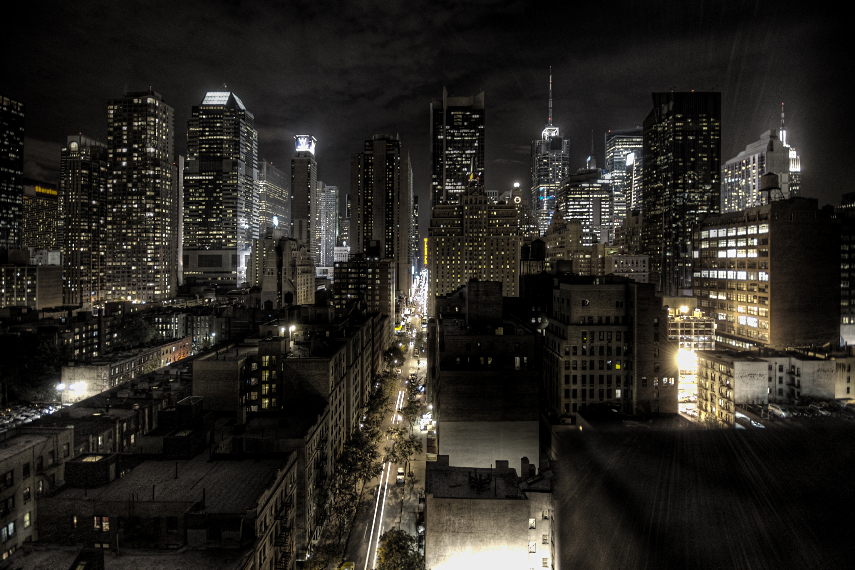 Tanım new york city at night hdr edit1