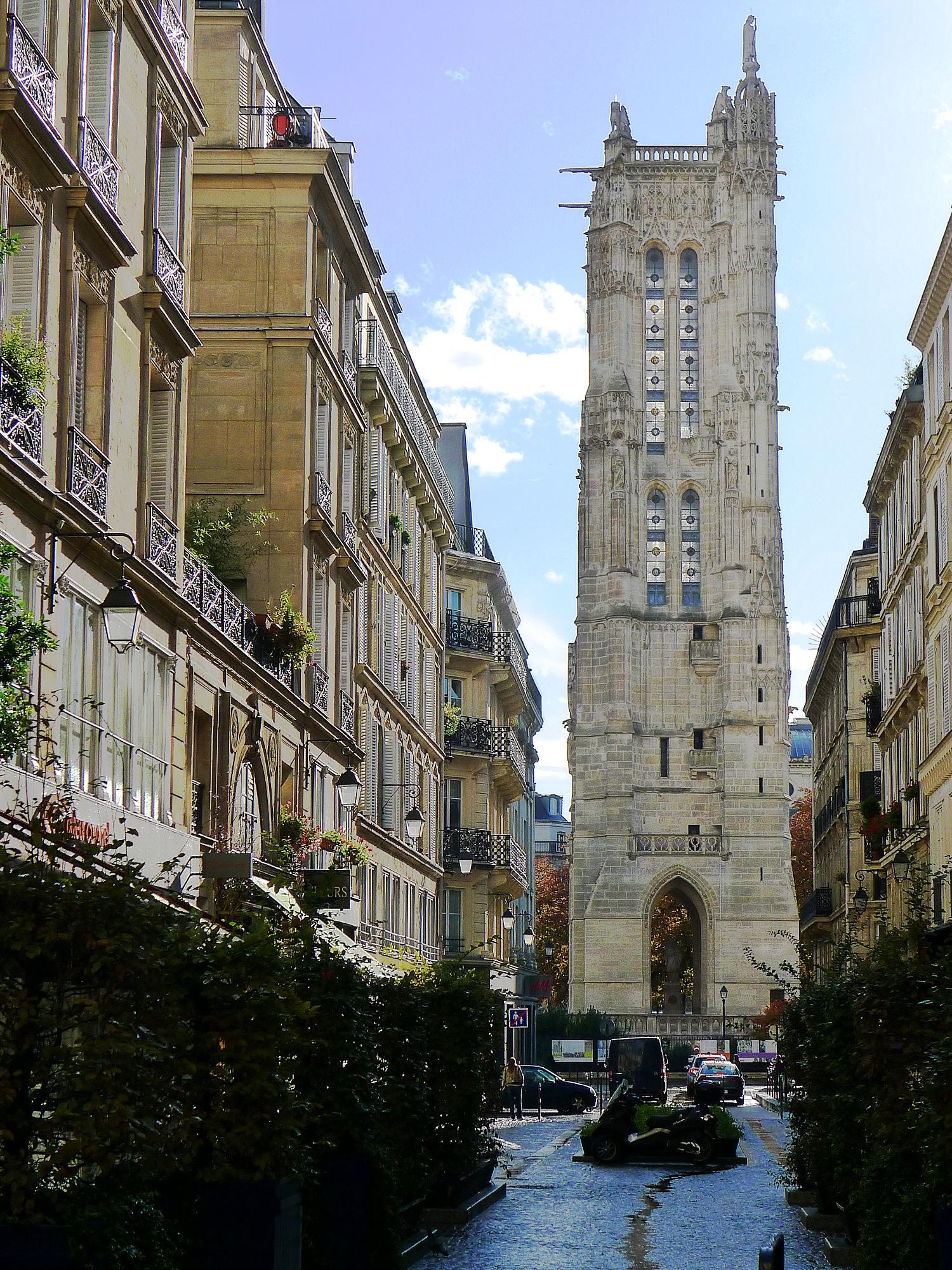File p1060322 paris iv rue nicolas flamel tour saint jacques rwk jpg - Tour saint jacques paris ...