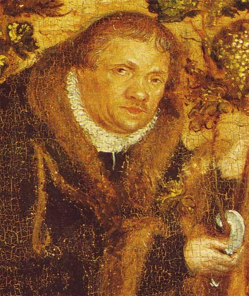Paul Eber geportretterd door Lucas Cranach de Jongere.