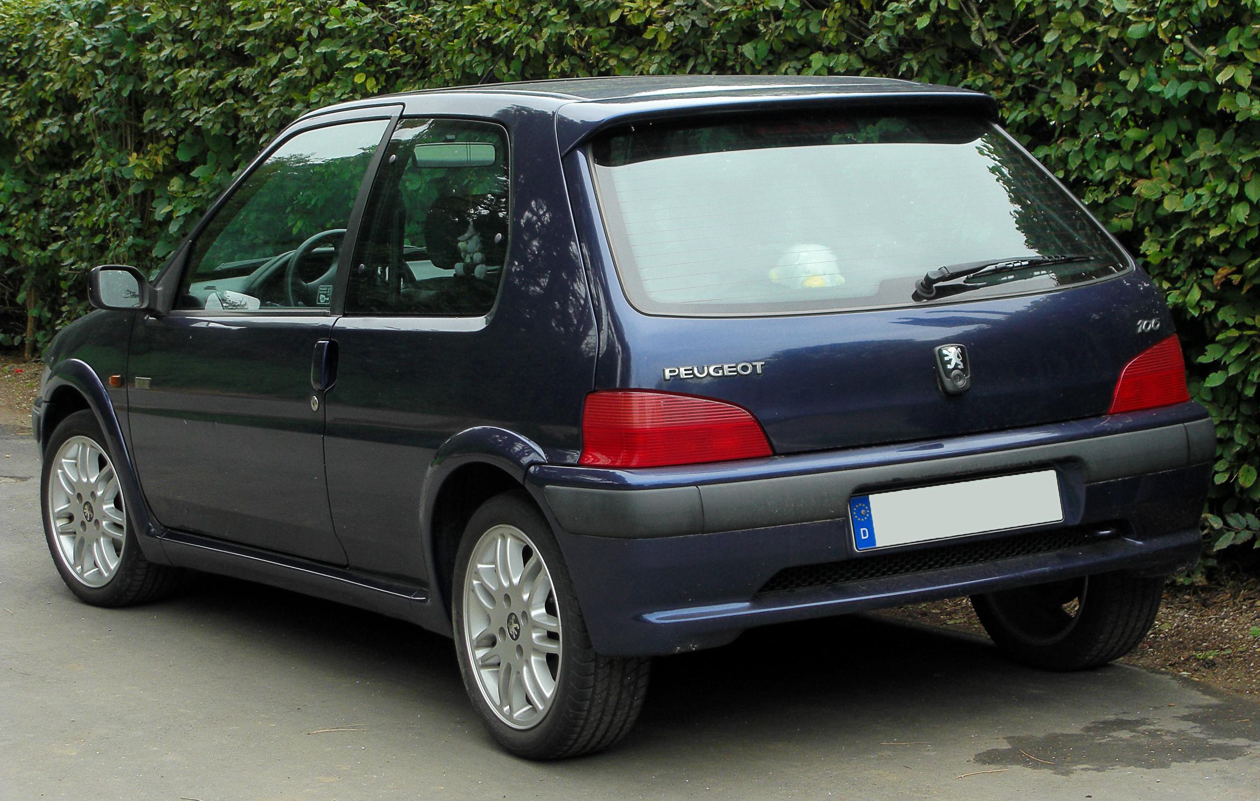 Peugeot >> File:Peugeot 106 Sport Facelift rear 20100914.jpg - Wikimedia Commons