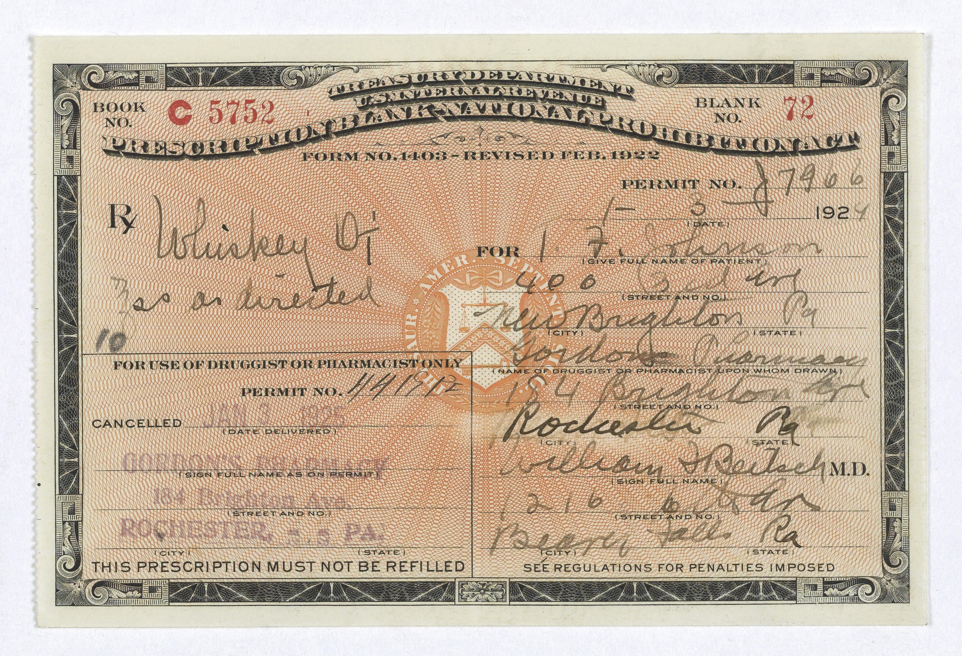 file prohibition era prescription for whiskey jpg wikimedia commons