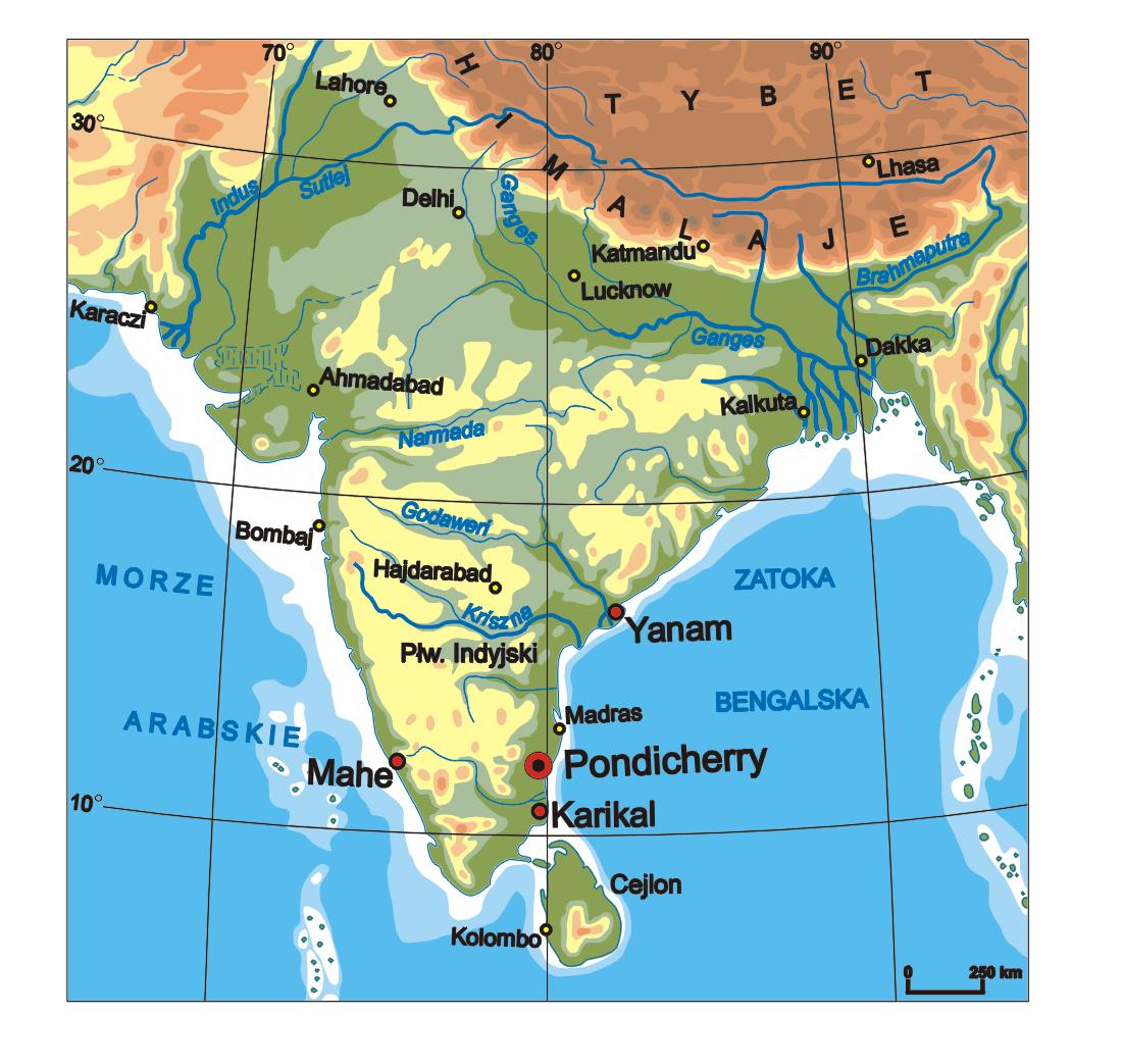 Pondicherry India  city photo : Pondicherry In India Map