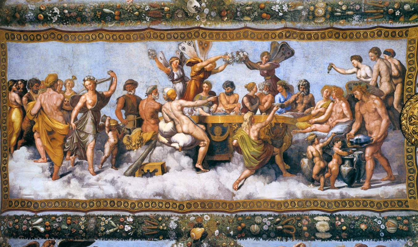Banchetto Nuziale The Wedding Banquet Ofcupid And Psyche Fresco 1517 By Raphael Wikimedia Commons