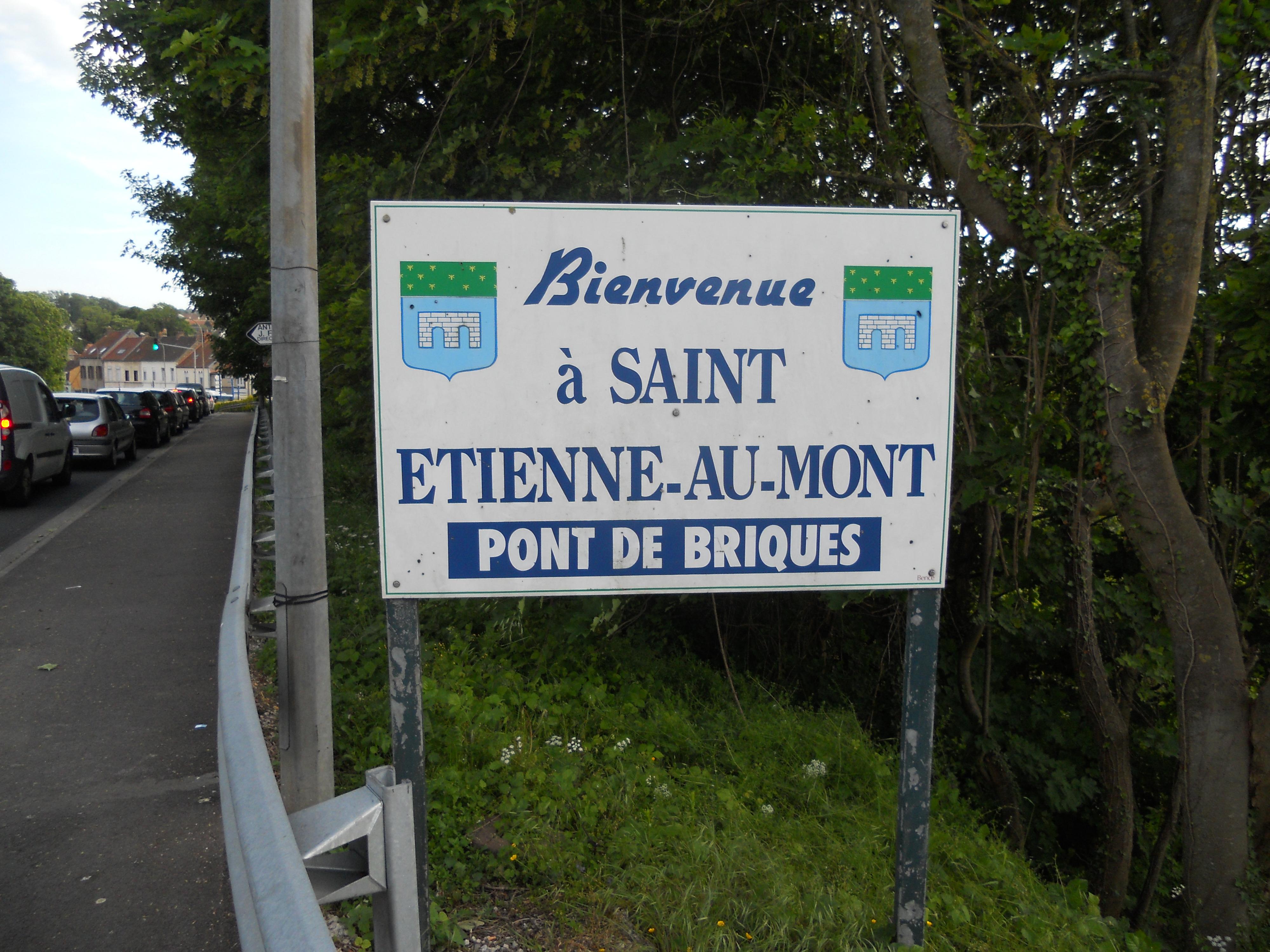File Road Sign Welcome To Saint Etienne Au Mont With Pont De