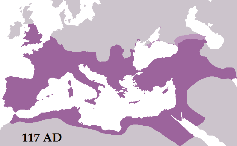 Roman Empire at its peak