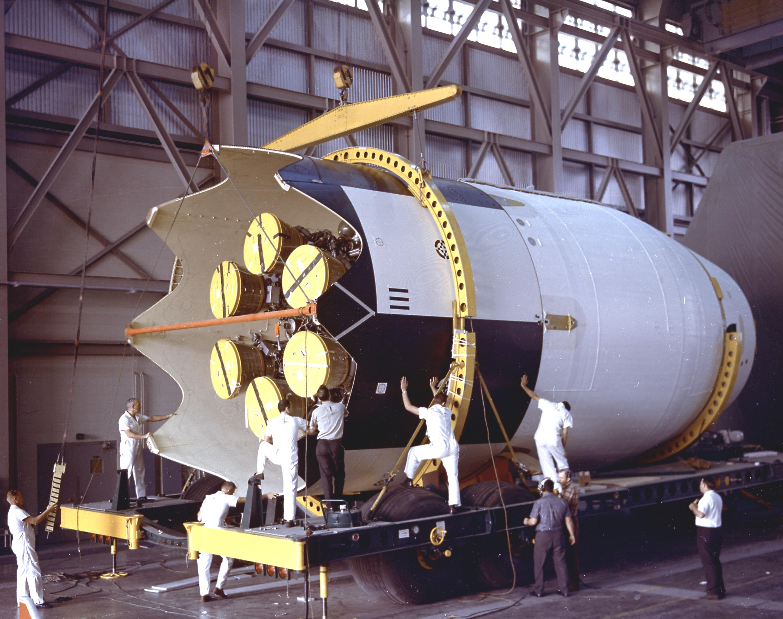 Saturn I SA-9 - 16.2.1965 Second_Stage_for_SA-9