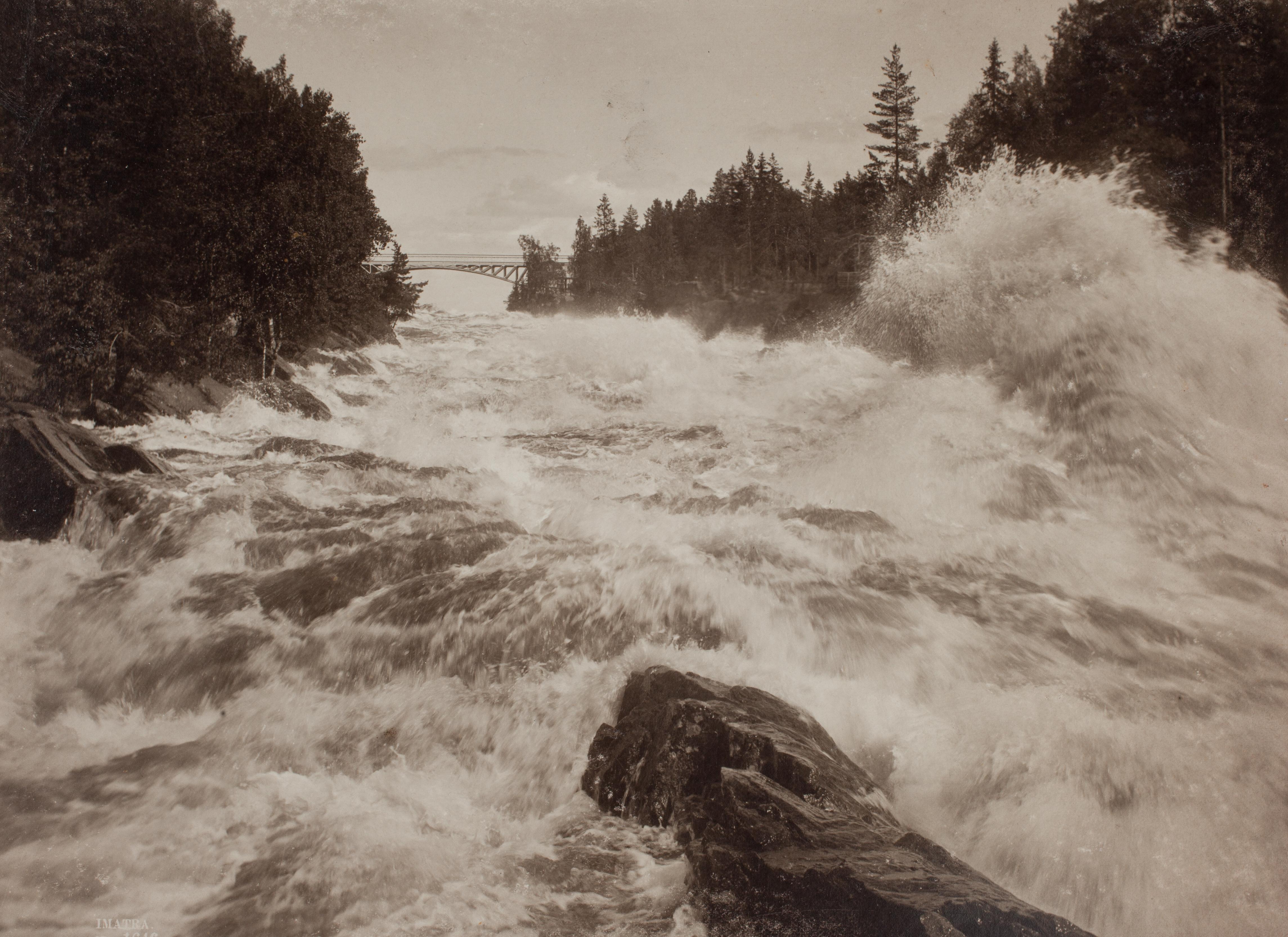 Corredeiras em Imatra, Finlândia [c. 1893]