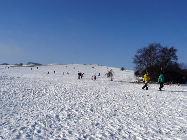 Snow on Therfield Heath - geograph.org.uk - 1262414