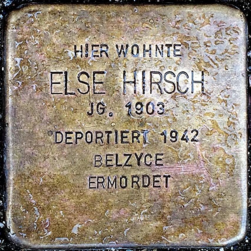 Stolperstein Hirsch, Else.jpg