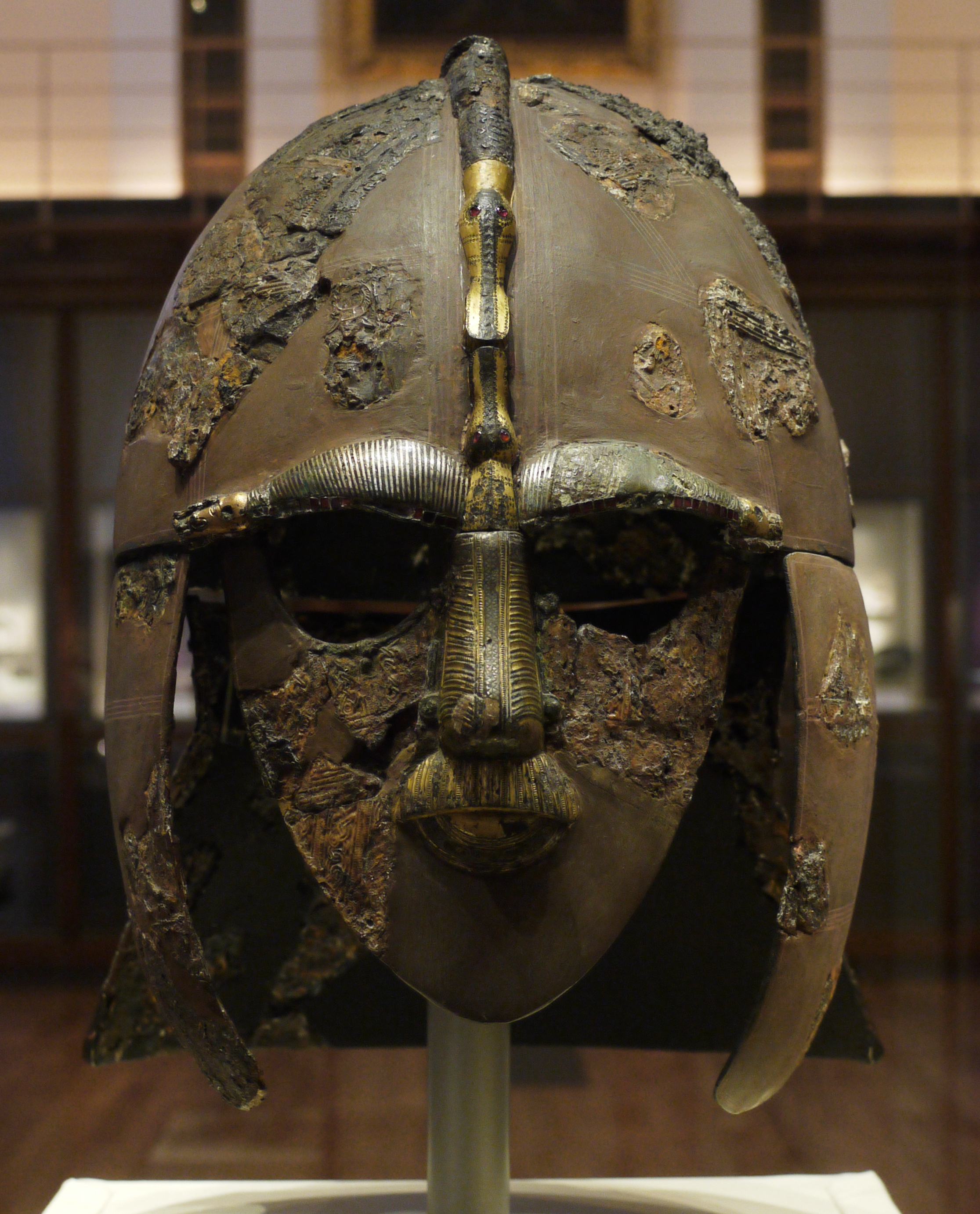 Est100 Some Photos Sutton Hoo Helmet In The