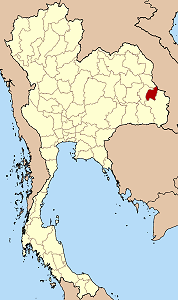 アムナートチャルーン県の位置