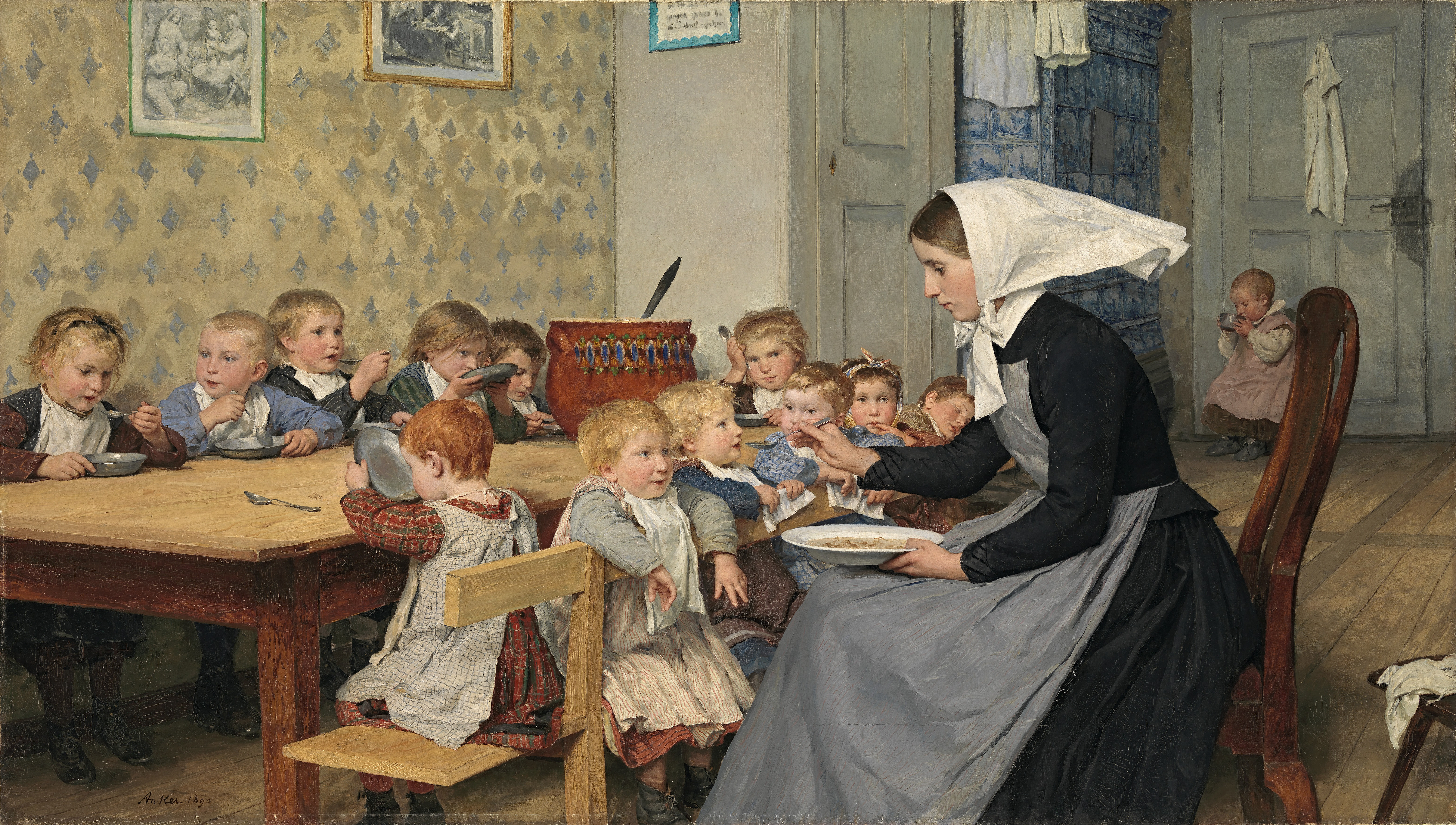 "La guardería ""The Crèche""  (1890)"