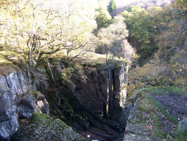 The gorge carved by the Keltie Water at Bracklinn Falls - geograph.org.uk - 1033076