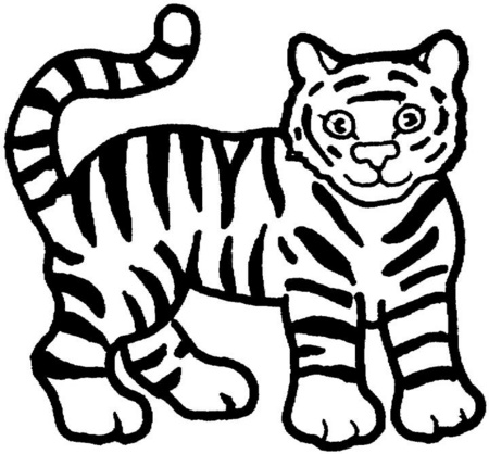 File tigre dibujos para wikimedia commons Coloring book wiki