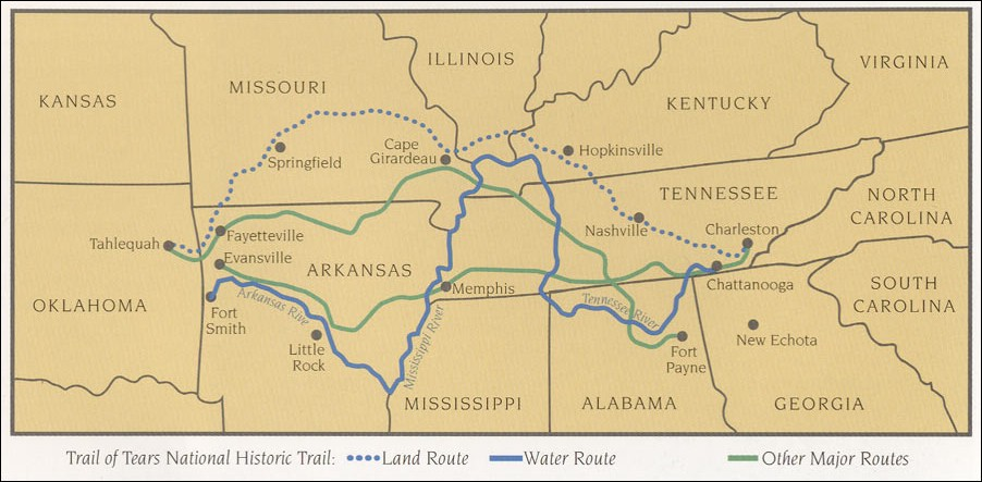 Trail of Tears Map, National Park Service (2005)